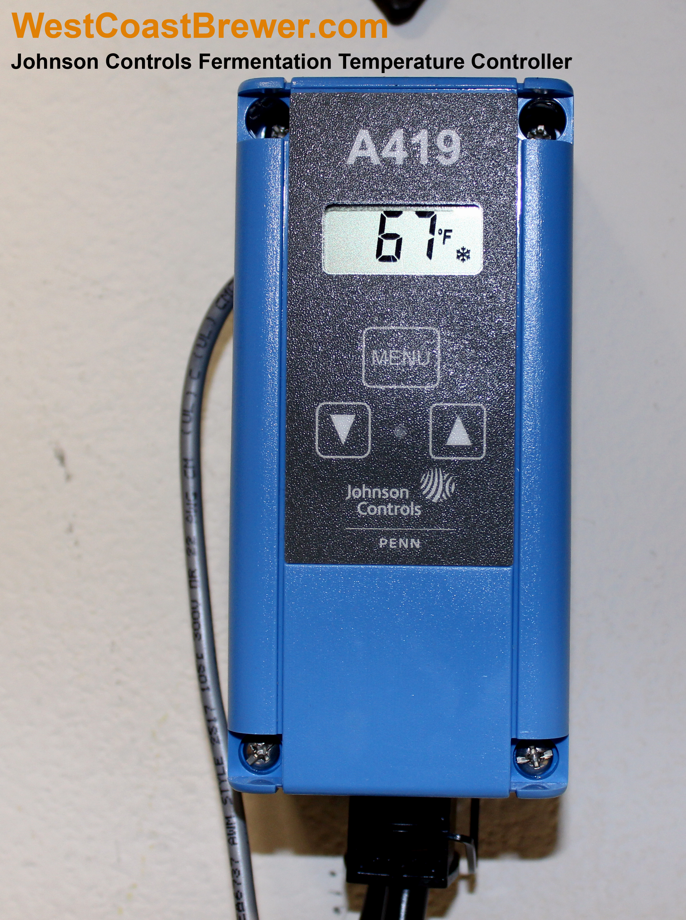 Johnson Controls Digital Temperature Controller – Fermentation  #B56D16