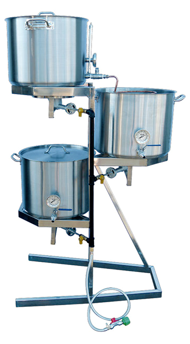 Stainless Steel 3 Tier Gravity Brew Rig